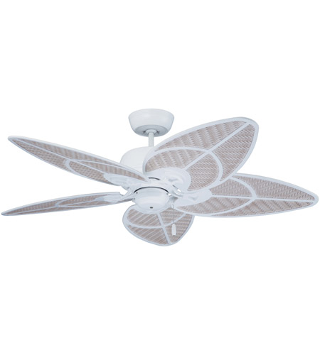 Emerson Cf621sw Batalie Breeze 52 Inch Satin White With Light Wicker Highlights Blades Indoor Outdoor Ceiling Fan In