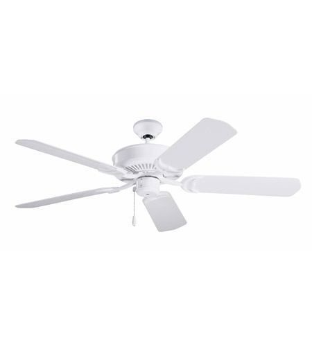 Emerson Fans Sea Breeze Ceiling Fan in Appliance White with All-Weather Appliance White Blades CF654WW photo