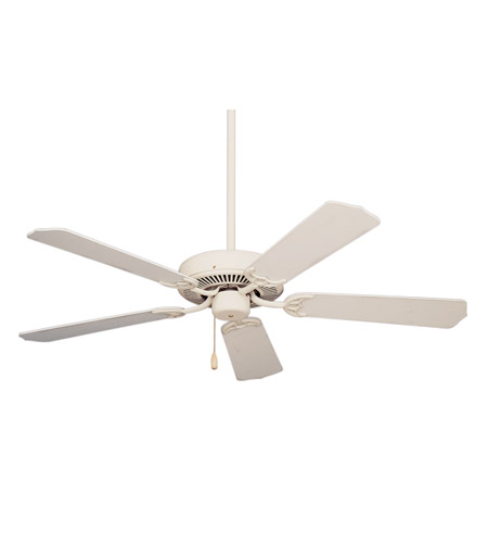 Emerson Fans Pro Series Builder Ceiling Fan in Summer White with Summer White/Bleached Oak Blades CF700AW photo