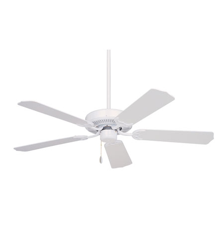 Emerson Fans Pro Series Builder Ceiling Fan in Appliance White with Appliance White/Bleached Oak Blades CF700WW photo