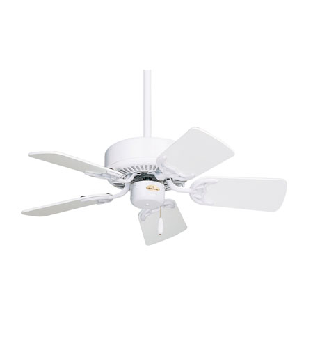 Emerson Fans Traditional Ceiling Fan in Appliance White with Appliance White/Bleached Oak Blades CF702WW photo