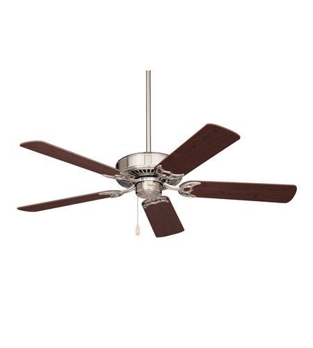 Emerson Fans 52in Northwind Ceiling Fan in Brushed Steel with Dark Cherry/Mahogany Blades CF705BS photo