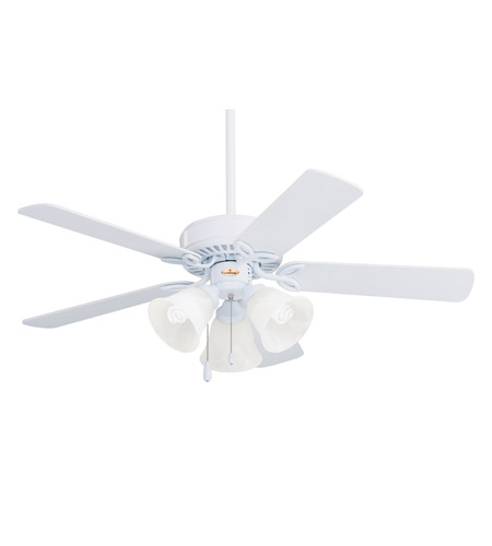 Emerson CF710WW Pro Series 42 inch Appliance White with Appl. White/Bleached Oak Blades Ceiling Fan in Appliance White/Bleached Oak photo