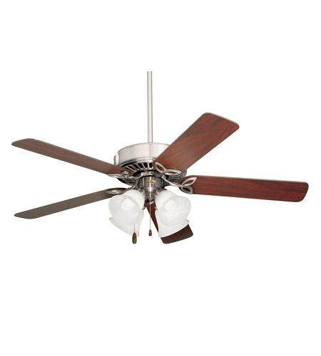Emerson CF711BS Pro Series 50 inch Brushed Steel with Dark Cherry/Mahogany Blades Ceiling Fan in Alabaster Swirl photo