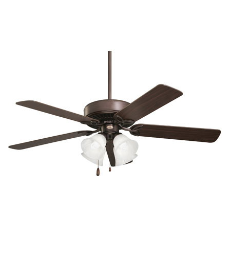 Emerson CF711ORB Pro Series 50 inch Oil Rubbed Bronze with Dark Cherry/Medium Oak Blades Ceiling Fan in Alabaster Swirl photo