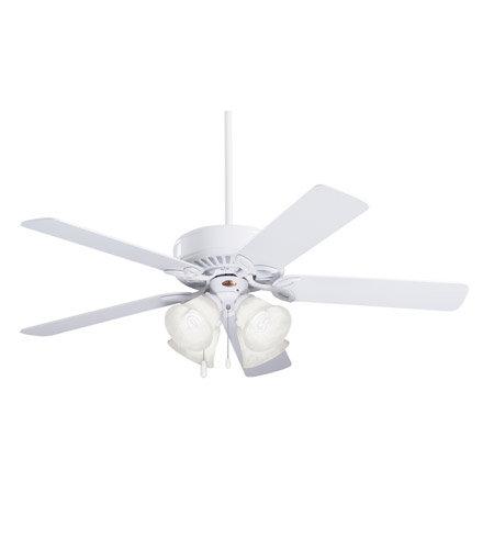 Emerson CF711WW Pro Series 50 inch Appliance White with Appl. White/Bleached Oak Blades Ceiling Fan in Alabaster Swirl, Appliance White/Bleached Oak photo