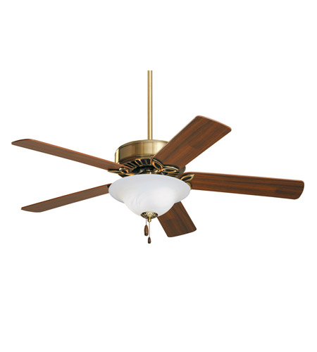 Emerson CF712AB Pro Series 50 inch Antique Brass with Medium Oak/Walnut Blades Ceiling Fan in Alabaster Swirl photo