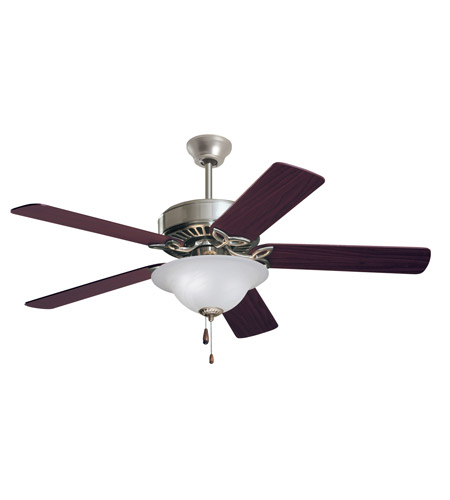 Emerson CF712BS Pro Series 50 inch Brushed Steel with Dark Cherry/Mahogany Blades Ceiling Fan in Alabaster Swirl photo