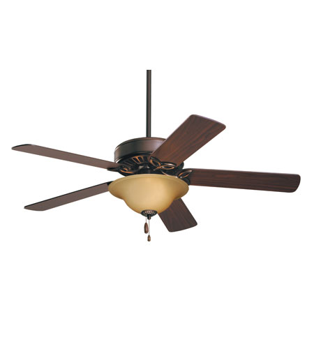Emerson CF712ORB Pro Series 50 inch Oil Rubbed Bronze with Dark Cherry/Medium Oak Blades Ceiling Fan in Amber Scavo photo