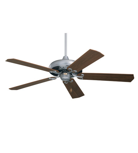 Emerson Fans Savannah Ceiling Fan in Pewter with Dark Cherry/Mahogany Blades CF716PW photo