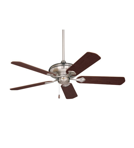Emerson Fans Monterey Ceiling Fan in Brushed Steel with Dark Cherry/Mahogany Blades CF770BS photo