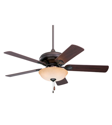 Emerson Fans Spanish Bay 3 Light Ceiling Fan in Oil Rubbed Bronze with Dark Cherry Blades CF775ORB photo