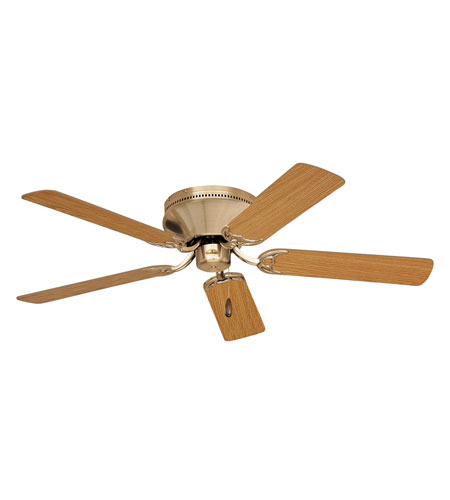 Emerson Fans 52in Snugger Ceiling Fan in Antique Brass with Light Oak/Medium Oak Blades CF805SAB photo