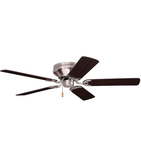 Emerson Fans 52in Snugger Ceiling Fan in Brushed Steel with Dark Cherry/Mahogany Blades CF805SBS photo