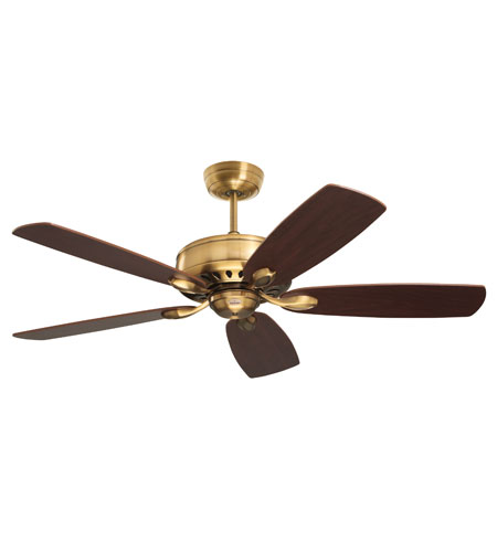 Emerson Prima Ceiling Fan in Burnished Brass with Dark Mahogany/Walnut Blades CF900BBR photo