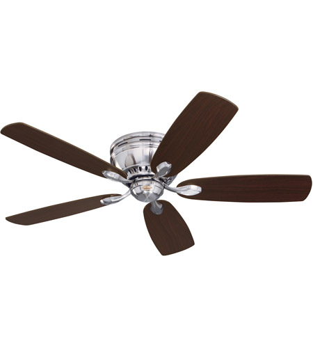Emerson CF905BS Prima Snugger 52 inch Brushed Steel with Dark Cherry/Chocolate Blades Ceiling Fan photo