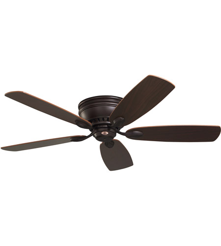 Emerson Fans 52in Prima Snugger Ceiling Fan in Oil Rubbed Bronze with Dark Cherry/Walnut Blades CF905ORB photo