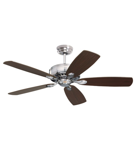 Emerson Prima Deluxe Ceiling Fan in Brushed Steel with Dark Cherry/Chocolate Blades CF910BS photo