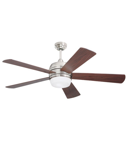 Emerson Fans Atomical 2 Light Ceiling Fan in Brushed Steel with Natural Cherry Blades CF930BS photo