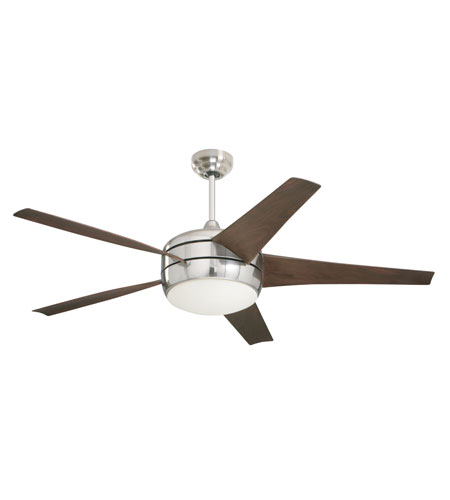 Emerson Fans Midway Eco 4 Light Ceiling Fan in Brushed Steel with Midnight Bordeaux Blades CF955BS photo