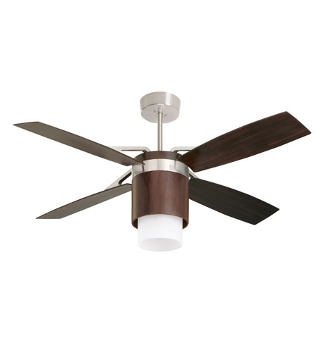 Emerson Fans Tureen 3 Light Ceiling Fan In Brushed Steel With Midnight Bordeaux Blades Cf980mbx