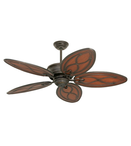 Emerson Fans Copa Breeze Tommy Bahama Ceiling Fan in Distressed Bronze with All-Weather Medium Antique Brown Blades TB311DBZ photo