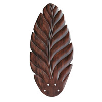 Maui Bay Hand Carved Leaf/Dark Cherry set of 5 Fan Blade