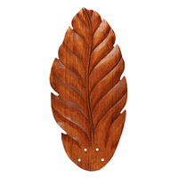 Maui Bay Hand Carved Leaf/Dark Oak set of 5 Fan Blade