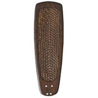 Emerson Rattan Vintage Walnut set of 5 Fan Blade