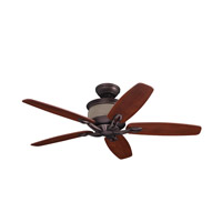 Callan 48 inch Oil Rubbed Bronze with Walnut Blades Ceiling Fan in Cream Bubble