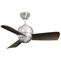 Emerson Fans Tilo Ceiling Fan in Brushed Steel with Dark Cherry Blades CF130BS photo thumbnail
