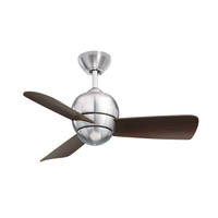 Tilo 30 inch Brushed Steel with Dark Cherry Blades Ceiling Fan