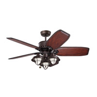Maui Bay 52 inch Oil Rubbed Bronze Ceiling Fan, Blades Sold Separately