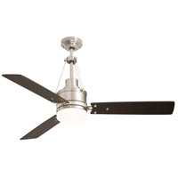 Emerson CF205LBS Highpointe 54 inch Brushed Steel with Dark Mahogany Blades Ceiling Fan