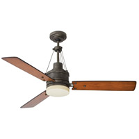 Emerson CF205LVS Highpointe 54 inch Vintage Steel with Honey Oak/Riverwash Blades Ceiling Fan