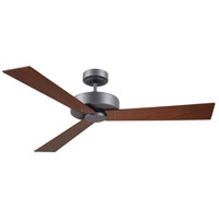 Keane 52 inch Graphite with Natural Cherry/Walnut Blades Indoor Ceiling Fan