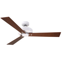 Keane 52 inch Satin White with Natural Cherry/Walnut Blades Ceiling Fan