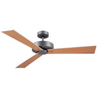 Keane 52 inch Graphite with Satin White/Maple Blades Indoor Ceiling Fan