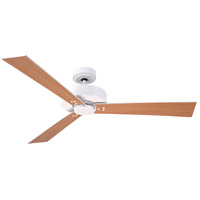 Keane 52 inch Satin White with Satin White/Maple Blades Ceiling Fan
