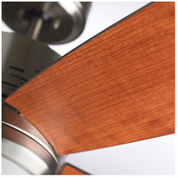 Highrise 50 inch Brushed Steel with Natural Cherry/Dark Mahogany Blades Ceiling Fan