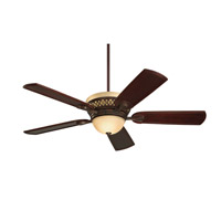 Braddock 54 inch Venetian Bronze with Hand Carved Dark Mahogany Blades Ceiling Fan