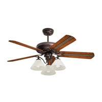 Emerson Fans Three Light Bankers 3 Light Fan Light Kit in Oil Rubbed Bronze with Alabaster Swirl Glass LK37ORB photo thumbnail