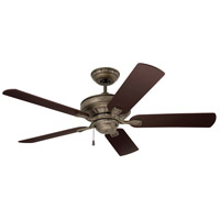 Emerson CF452BS Bella 52 inch Brushed Steel with Dark Cherry/Walnut Blades Indoor Ceiling Fan