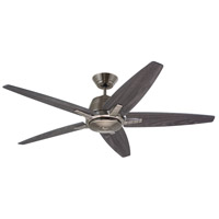Euclid 56 inch Antique Pewter with Charcoal/Timber Gray Blades Indoor Ceiling Fan