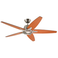 Euclid 56 inch Brushed Steel with Walnut/Natural Cherry Blades Indoor Ceiling Fan