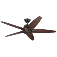 Emerson CF500ORB Euclid 56 inch Oil Rubbed Bronze with Dark Cherry/Dark Mahogany Blades Indoor Ceiling Fan