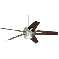 Luxe Eco 54 inch Brushed Steel with Dark Mahogany Blades Ceiling Fan
