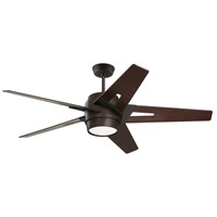 Luxe Eco 54 inch Oil Rubbed Bronze with Dark Mahogany Blades Indoor Ceiling Fan