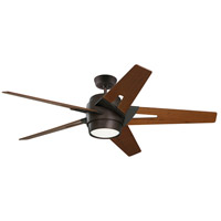 Luxe Eco 54 inch Oil Rubbed Bronze with Walnut Blades Indoor Ceiling Fan