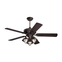 Veranda 52 inch Oil Rubbed Bronze with All-Weather Oil Rubbed Bronze Blades Indoor-Outdoor Ceiling Fan, Light Kit Not Included